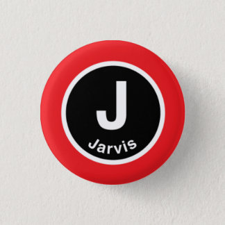 Chicago L Jarvis Red Line 3 Cm Round Badge