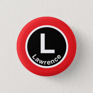 Chicago L Lawrence Red Line 3 Cm Round Badge