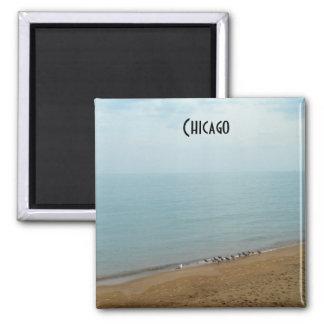 Chicago Lake Michigan Beach Photo Magnet