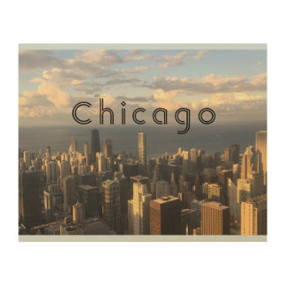 chicago landscape woodart wood wall art