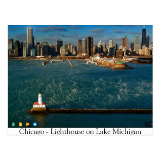 Chicago -- Lighthouse on Lake Michigan Postcard