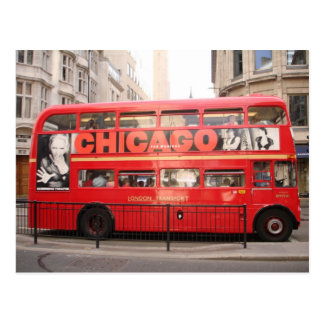 Chicago, London Bus... Postcard