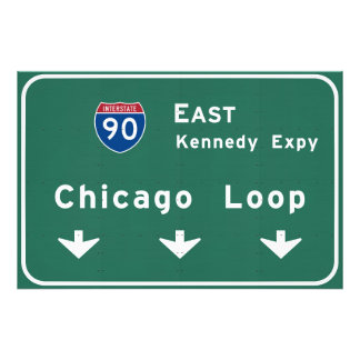 Chicago Loop I-90 E Interstate Illinois IL Photo Art