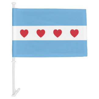 Chicago Love Car Flag