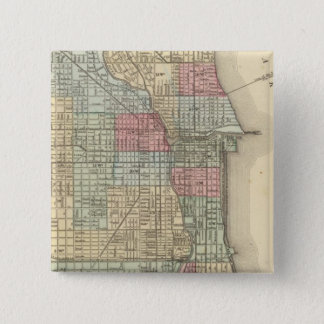 Chicago Map by Mitchell 15 Cm Square Badge