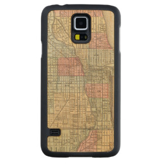 Chicago Map by Mitchell Carved Maple Galaxy S5 Case