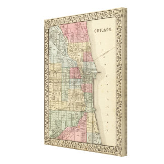 Chicago Map by Mitchell Gallery Wrap Canvas