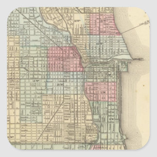 Chicago Map by Mitchell Square Sticker