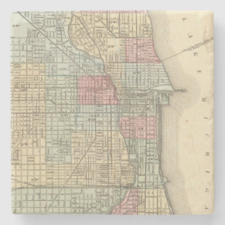 Chicago Map by Mitchell Stone Coaster