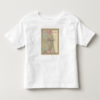 Chicago Map by Mitchell Toddler T-Shirt