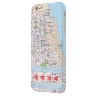 Chicago Map Flag Barely There iPhone 6 Plus Case