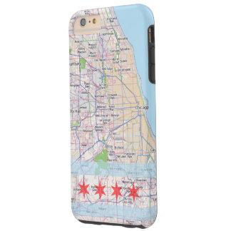 Chicago Map Flag Tough iPhone 6 Plus Case