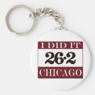 Chicago Marathon Basic Round Button Key Ring