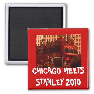 CHICAGO MEETS STANLEY SQUARE MAGNET