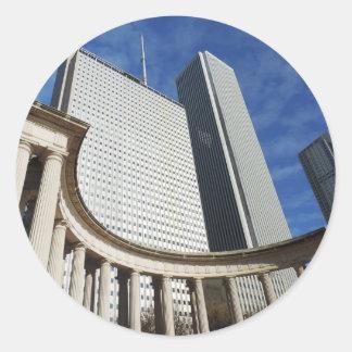 Chicago Memorial Round Sticker