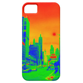 Chicago Michigan Avenue @ Night 1967 Neon Colorful Barely There iPhone 5 Case