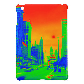 Chicago Michigan Avenue @ Night 1967 Neon Colorful Cover For The iPad Mini