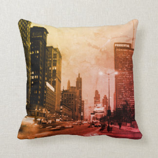 Chicago Michigan Avenue @ Night March 6, 1967 Cushion