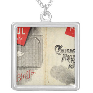 Chicago Milwaukee and St Paul Railway Silver Plated Necklace
