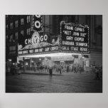 Chicago Movie Theatre at Night, 1941