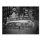 Chicago Movie Theatre at Night, 1941 Postcard