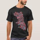Chicago Neighbourhood Map T-Shirt
