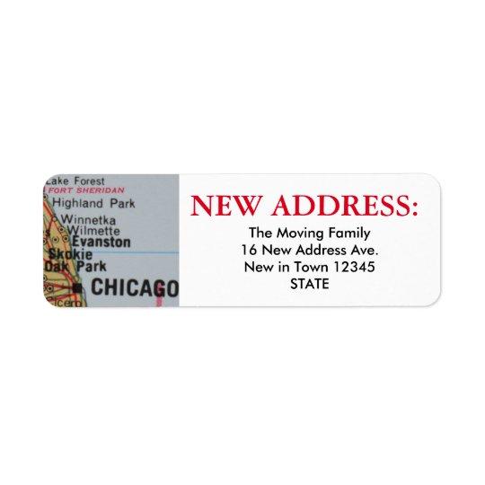 Chicago New Address Label