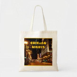 chicago nightlife tote bag