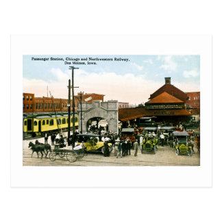 Chicago & Northwestern Railway, Des Moines, Iowa Postcard