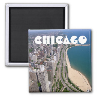 Chicago panoramic view magnet