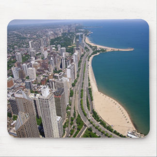 Chicago panoramic view mouse mat