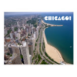 Chicago panoramic view postcard