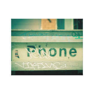 Chicago payphone canvas prints