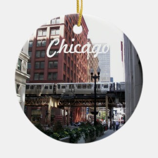 Chicago Photo Christmas Ornament