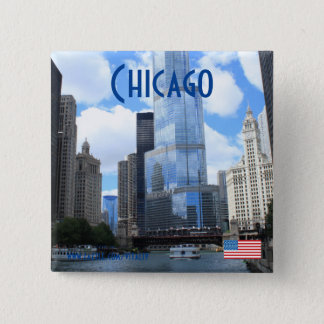 Chicago photography magnet 15 cm square badge