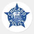 Chicago Police VINTAGE STAR Classic Round Sticker
