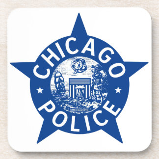 Chicago Police VINTAGE STAR Coaster