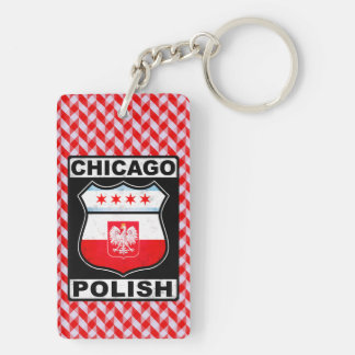 Chicago Polish American Keyring