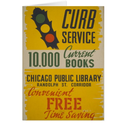 Chicago Public Library Curb Service Greeting Card