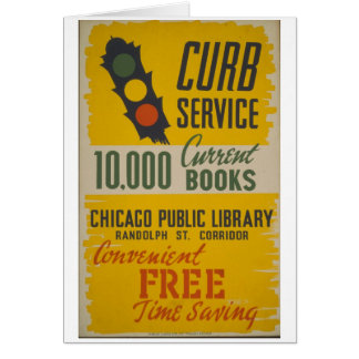 Chicago Public Library Curb Service Poster Greeting Card