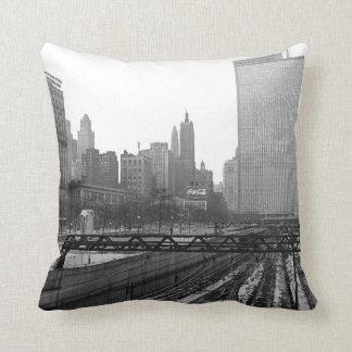Chicago Rail Yards 1960's Michigan Avenue Cushion