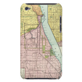 Chicago Railway Terminal Map Barely There iPod Cases