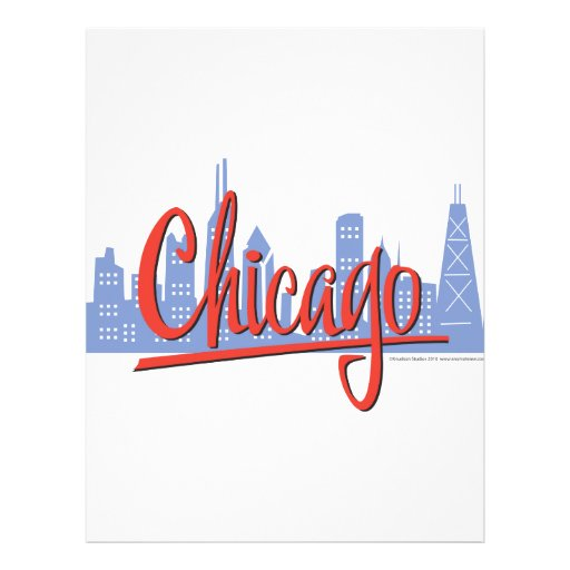 CHICAGO-RED PERSONALIZED FLYER