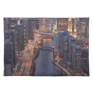 Chicago River and Trump Tower from above Placemat