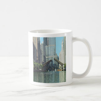 Chicago RIver Columbus Drive Bridge Boat Scene Mug