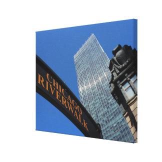 Chicago Riverwalk Gallery Wrap Canvas