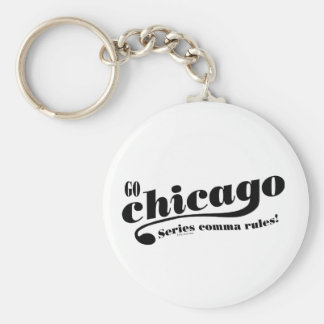 Chicago Rules Basic Round Button Key Ring