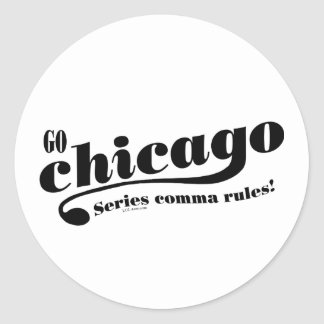 Chicago Rules Round Stickers