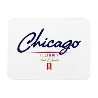Chicago Script Rectangular Photo Magnet