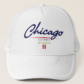 Chicago Script Trucker Hat